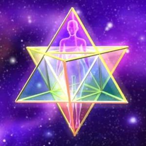 Drunvalo Melchizedek smatra da čovjek ima energetsko tijelo u obliku sveto geometrijskog lika tzv. star tetrahedrona